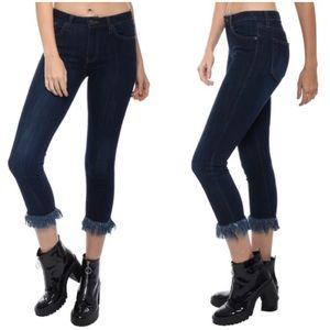 Just Black Fringe skinny jeans size 28